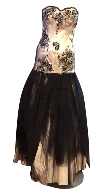 Item - Black Couture #318 Strapless Lace Tulle Long Casual Maxi Dress Size 4 (S)