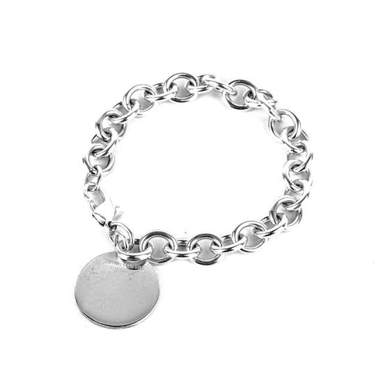Tiffany & Co. Sterling Silver Classic Round/Circle Tag Bracelet