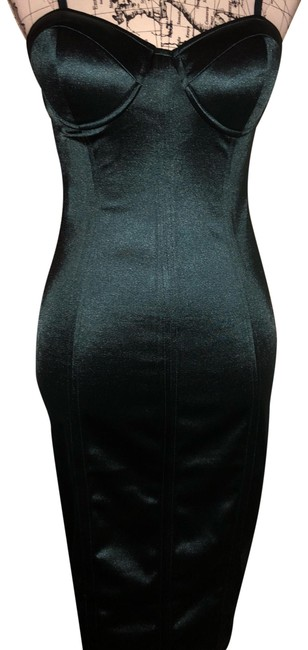 Item - Hunter Green With Envy Mid-length Night Out Dress Size 6 (S)