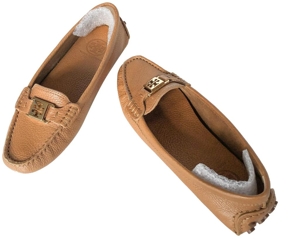 bbdb6edfc348 Tory Burch Leather Kendrick Tumbled Leather Loafer Royal Tan Flats Image 0  ...