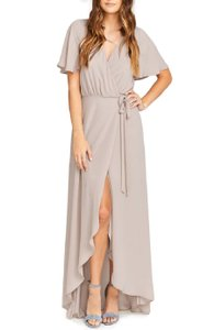 Show Me Your Mumu Beige Polyster 5254544 Feminine Bridesmaid/Mob Dress Size 8 (M)