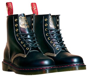 Dr. Martens Leather Limited Edition Black Boots