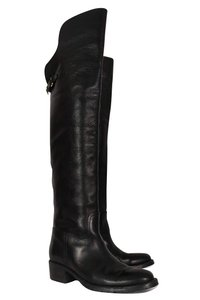 Ralph Lauren Collection Over The Knee Black Boots