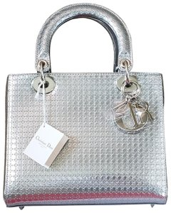 778f5fb454dc Dior Lady Purse Clutch Handbag Tote in Metallic silver