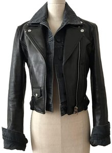 Alexander Wang Black, Charcoal Leather Jacket