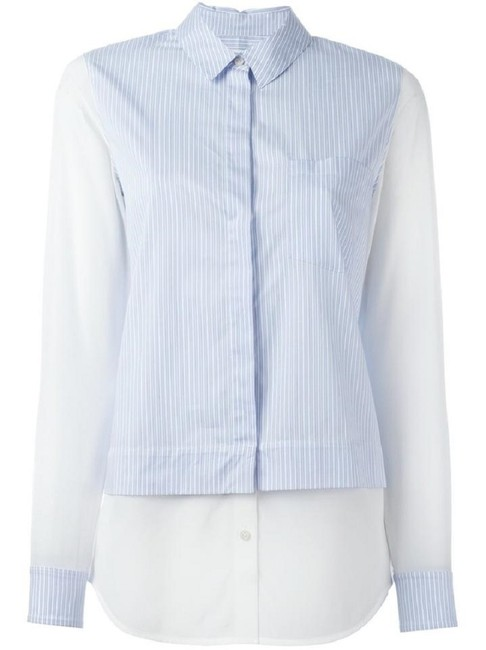 Preload https://img-static.tradesy.com/item/24798123/vince-white-blue-striped-block-shirt-cotton-and-silk-panels-button-down-top-size-6-s-0-0-650-650.jpg