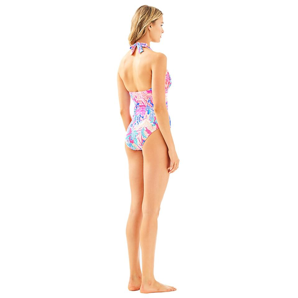 4fd8814280f43 Lilly Pulitzer Pink Lanai Halter One-piece Bathing Suit. Size  12 (L) ...