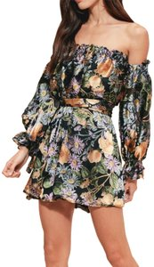 For Love & Lemons short dress dark floral on Tradesy