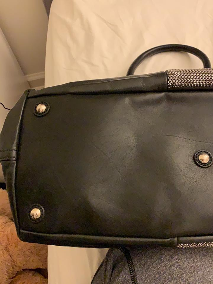 611d27f9dc8e Saint Laurent Easy Yves Medium Y Black Leather Weekend Travel Bag ...