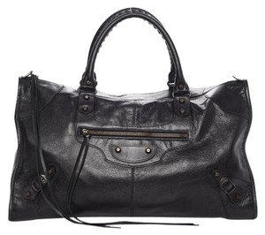 Balenciaga Work Agneau Satchel in black