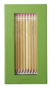 Kate Spade KATE SPADE 'AS GOOD AS IT GETS' GOLD PENCIL SET OF 8 NWT