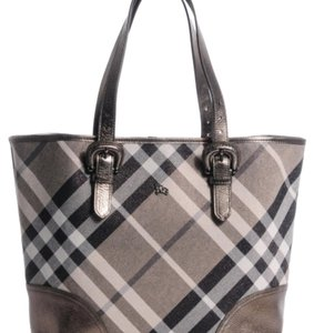 Burberry Tote in silver and black