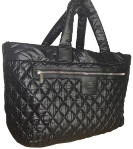 891a6ae69731 Chanel Cocoon Coco Bowler Extra Large Black Nylon Shoulder Bag - Tradesy
