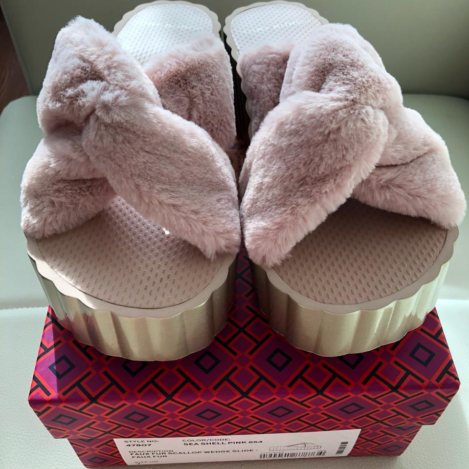dd1bf80d9 Tory Burch Sea Shell Pink 654 47807 Wedges Size US 7 Regular (M