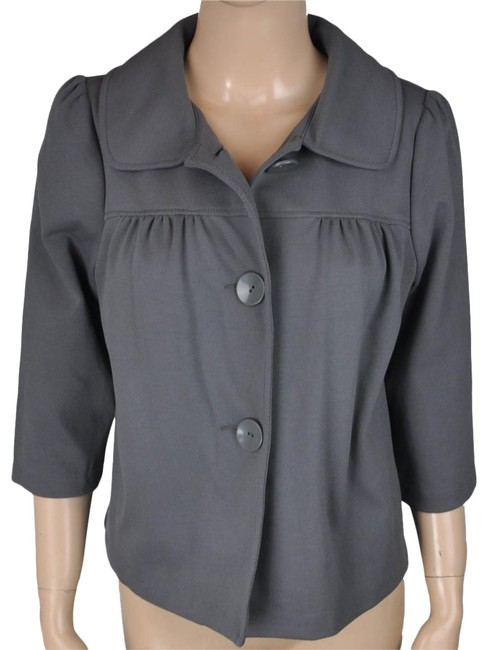 Item - Gray Ruched Pea Jacket Coat Size 8 (M)