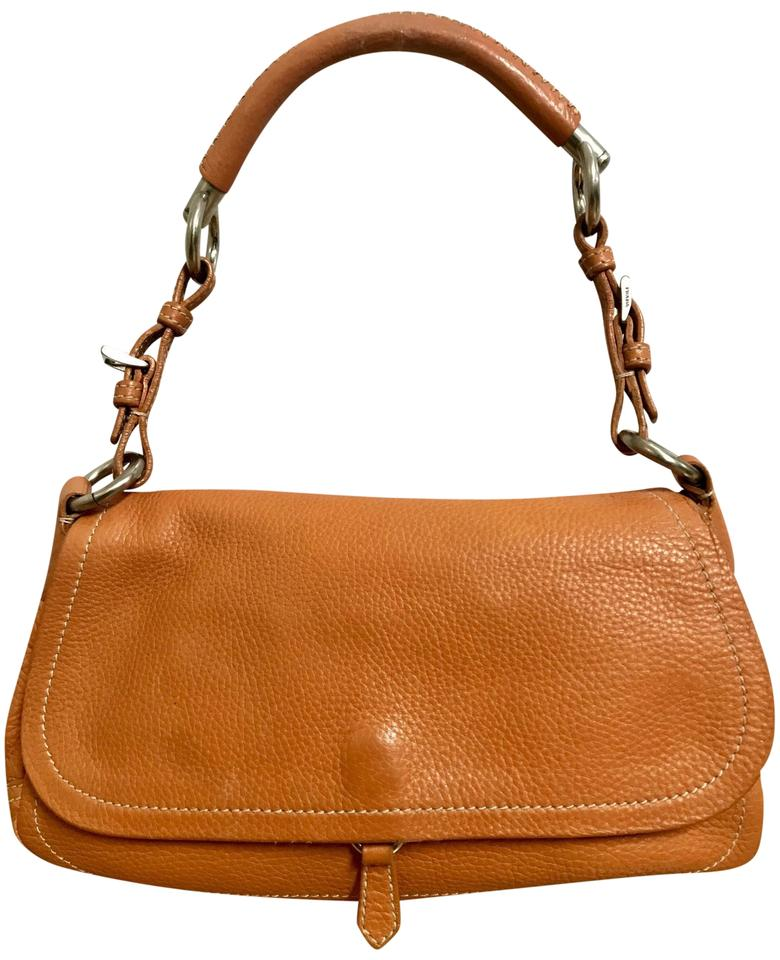 1dc02b2d8f4a Prada Vitello Daino Semitracolla Orange Leather Handbag Tote - Tradesy