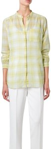 Burberry Button Down Shirt yellow white