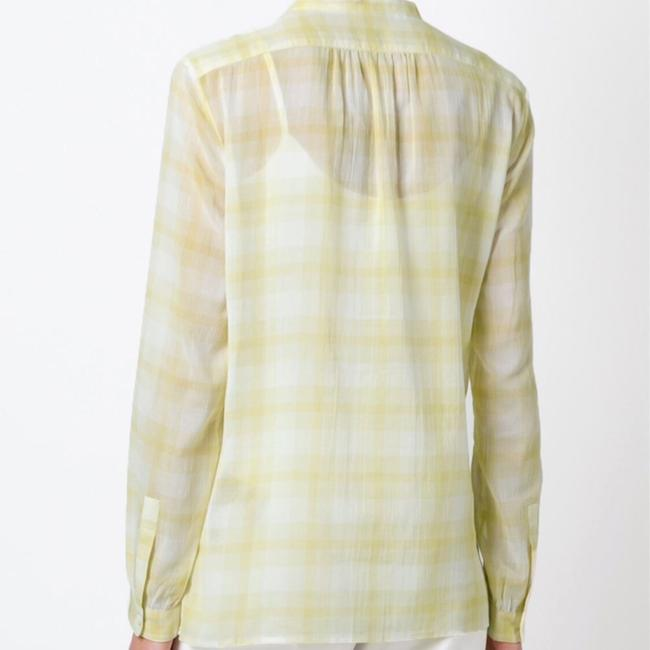 Burberry Button Down Shirt yellow white Image 1