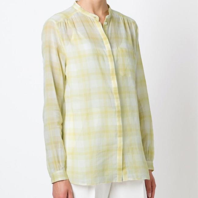 Burberry Button Down Shirt yellow white Image 2