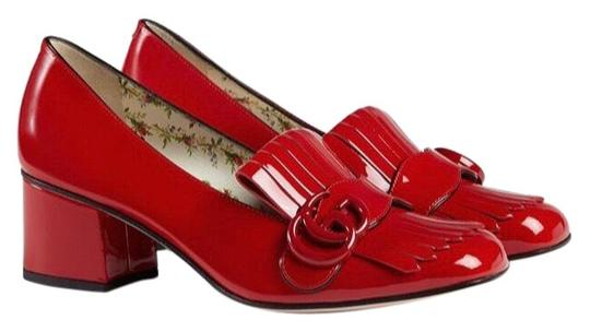 Preload https://img-static.tradesy.com/item/24799069/gucci-red-marmont-patent-leather-mid-heel-loafer-mulesslides-size-us-75-regular-m-b-0-3-540-540.jpg