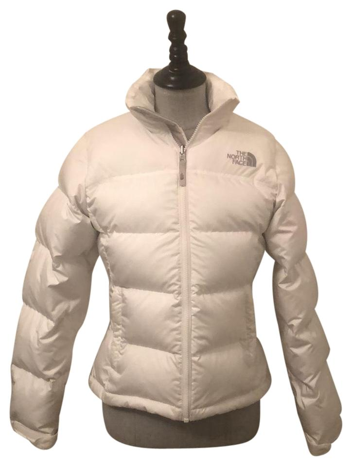 0946cfff1a The North Face White Nuptse Jacket Coat Size 6 (S) - Tradesy