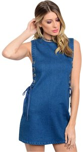 Honey Punch short dress BLUE on Tradesy