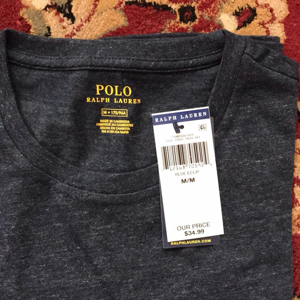 30c2b82a38 Polo Ralph Lauren Blue L Mens Crew Neck T-shirt S/M/L Available Please Send  Me A Note For After Purchase Tee Shirt Size OS (one size)