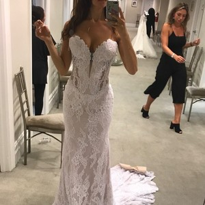 Pnina Tornai White Lace - New 4348 Sexy Wedding Dress Size 4 (S)