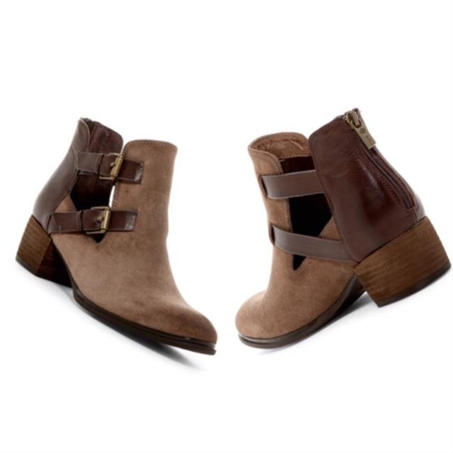 Item - Havana Brown Darnell Suede Cut Out Dual Buckle Boots/Booties Size US 9 Regular (M, B)