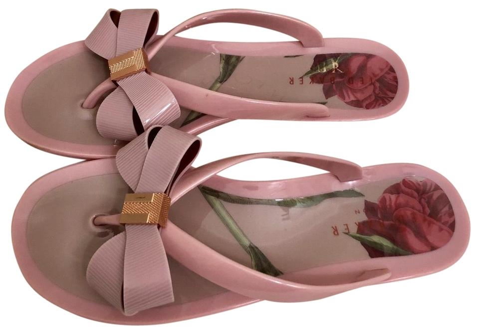 ef13f2c04 Ted Baker Pink London Suszie Thong Sandals Size US 7 Regular (M