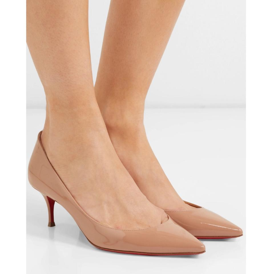 Christian Louboutin Nude Patent Pigalle Follies 100mm