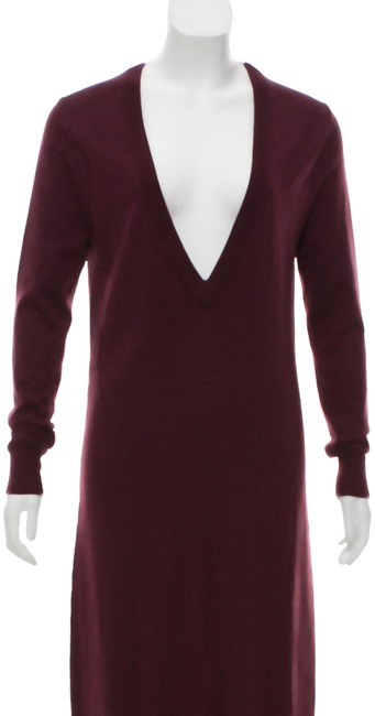 Item - Burgundy Sweater Mid-length Night Out Dress Size 10 (M)