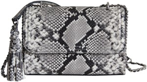 Tory Burch Fleming Converitible Snakeskin Shoulder Bag