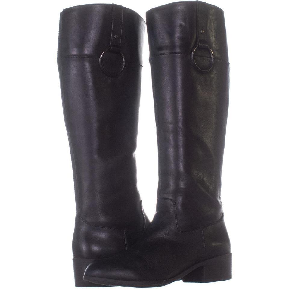 f84ed7e751d Naturalizer Black Kelsey Wide Calf Knee High 271 Leather U Boots Booties