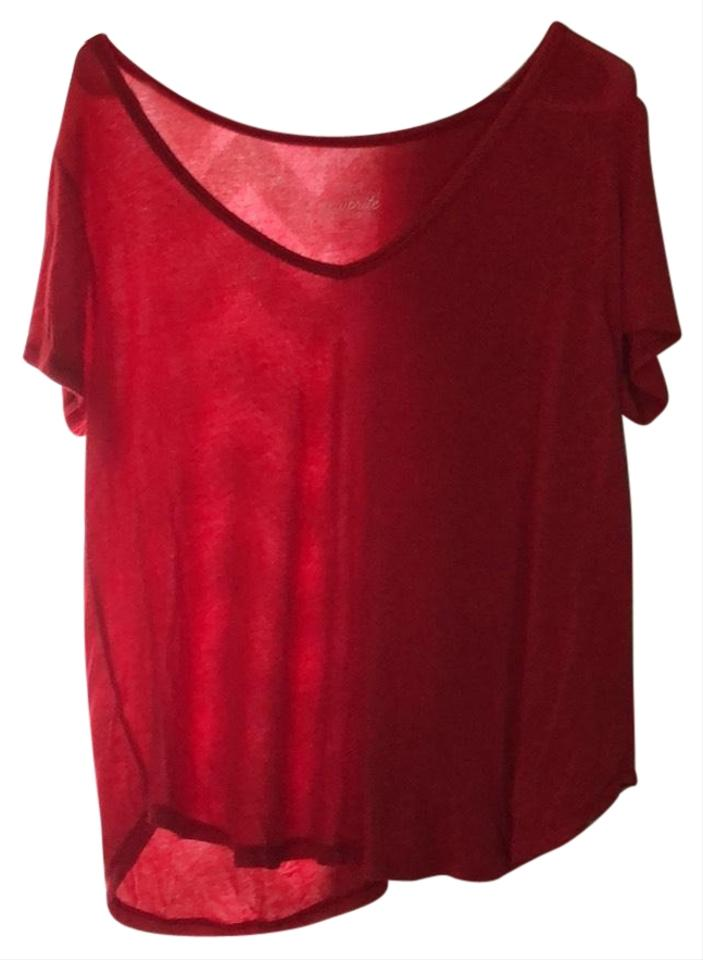Rue 21 Red Favorite Relaxed Tee Shirt Size 14 L Tradesy