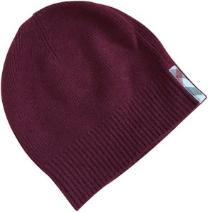 Burberry NWT Burberry woman solid to check cashmere knitted beanie