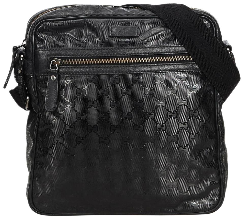 1572f132d88b9b Gucci Messenger Gg Imprime Black Plastic Shoulder Bag - Tradesy