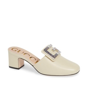 Gucci Leather Heels Leather Heels White Mules
