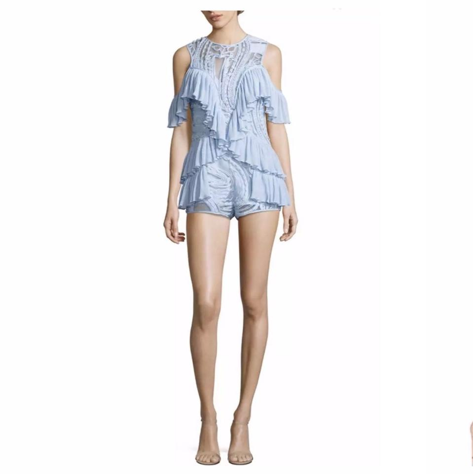 3c2d1a55a38e alice McCALL Blue You re Young Cold Shoulder Romper Jumpsuit - Tradesy