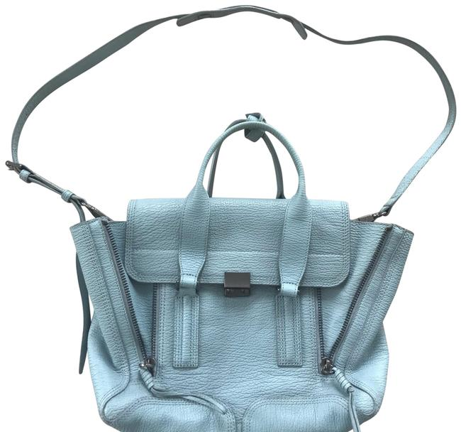 Item - Medium Pashili Satchel Baby Blue Leather Shoulder Bag