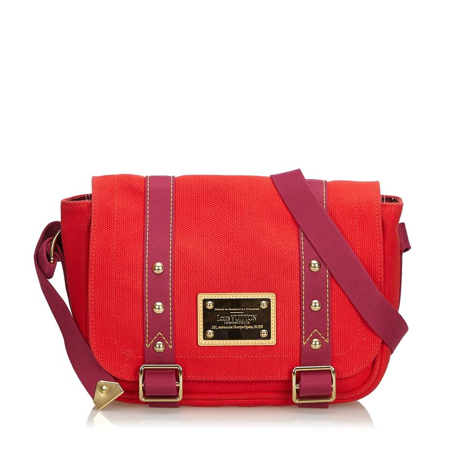 49428a1b6 Louis Vuitton Besace Antigua Pm Red Canvas Shoulder Bag - Tradesy