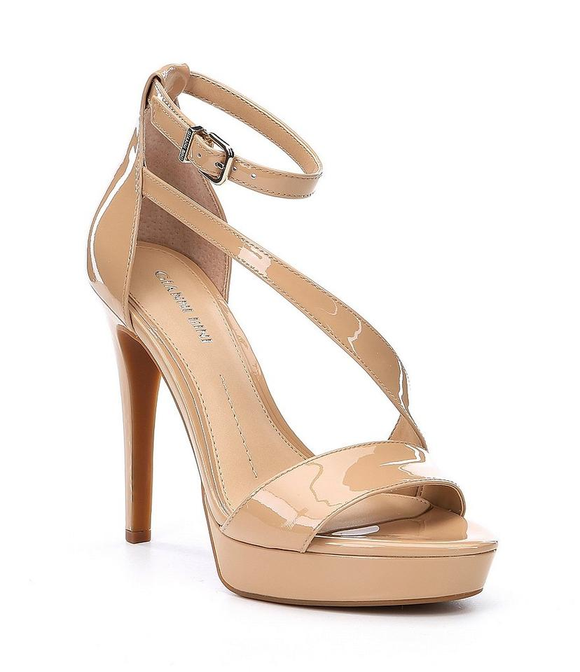 40012206d Gianni Bini Dressy Formal Patent Patent Leather Strappy Spanish Sand  Platforms Image 0 ...