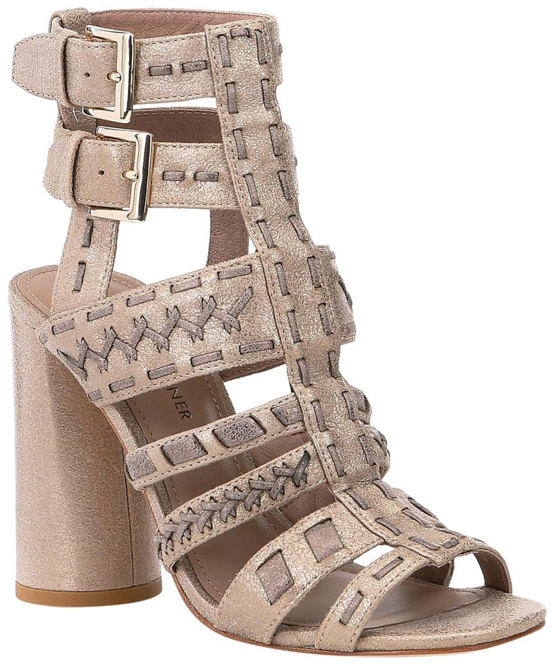 09288414898 Donald J. Pliner Taupe Bindy Caged Leather Sandals Size US 9.5 ...