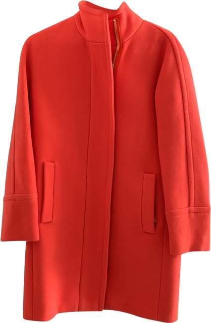 Item - Orange Stadium Clothe Cacoon Coat Size 0 (XS)