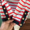 J.Crew Grosgrain Ribbon Striped T-shirt with Nautical Buttons Tee Shirt Size 4 (S) J.Crew Grosgrain Ribbon Striped T-shirt with Nautical Buttons Tee Shirt Size 4 (S) Image 6