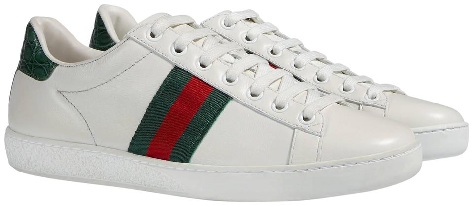 af3e0300bff Gucci White Ace Leather Sneaker - (9us) Sneakers Size EU 39 (Approx ...