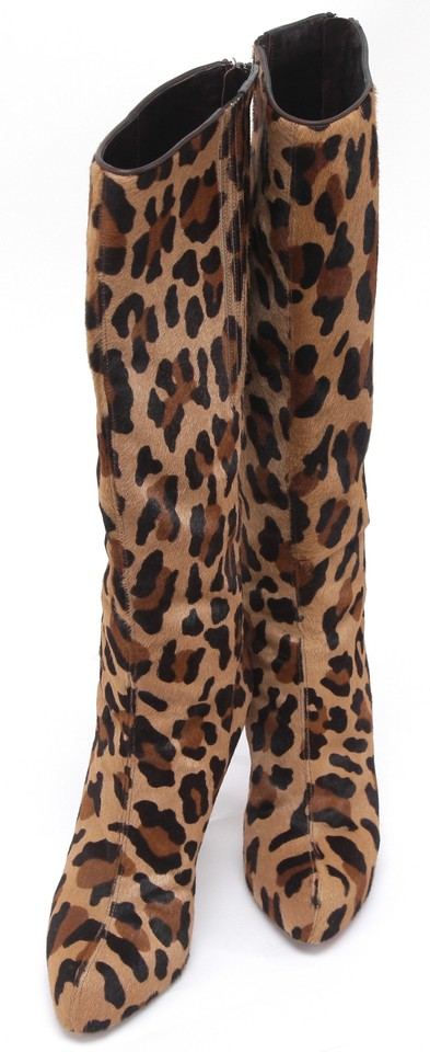 24167513c03d Christian Louboutin Leopard Print Pony Hair Knee High Leopard Brown Boots  Image 7. 12345678