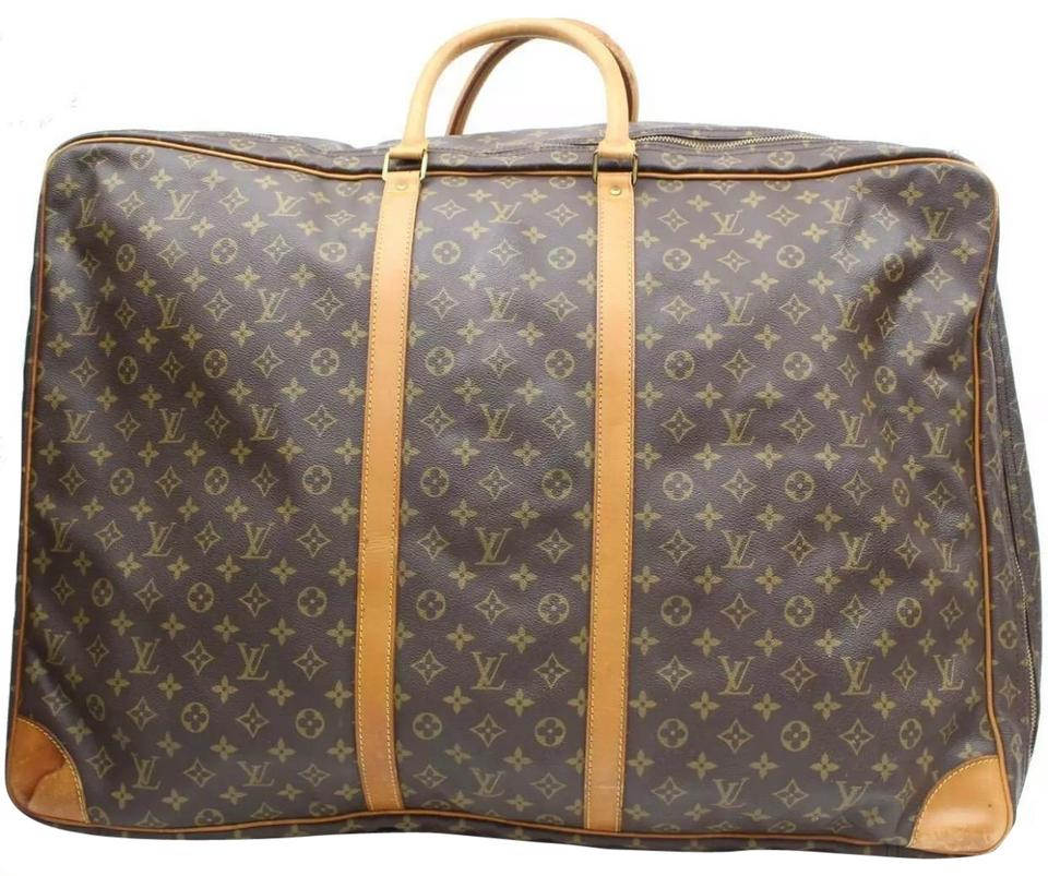 Louis Vuitton Sirius 70 Brown Monogram Canvas and Leather Weekend ... a71fed8e33