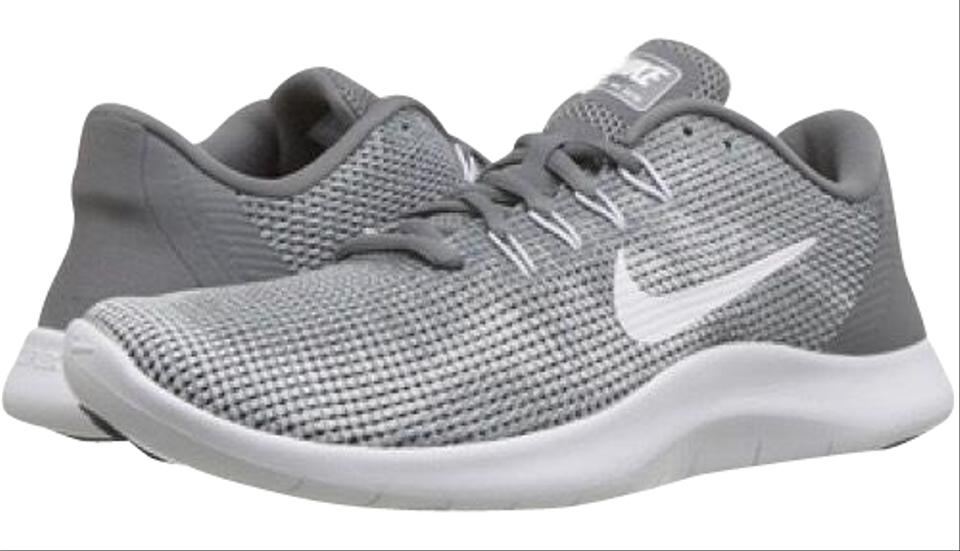 Nike Cool Grey White New Women s Flex Rn 2018 Running Sneakers Size ... 370566f95