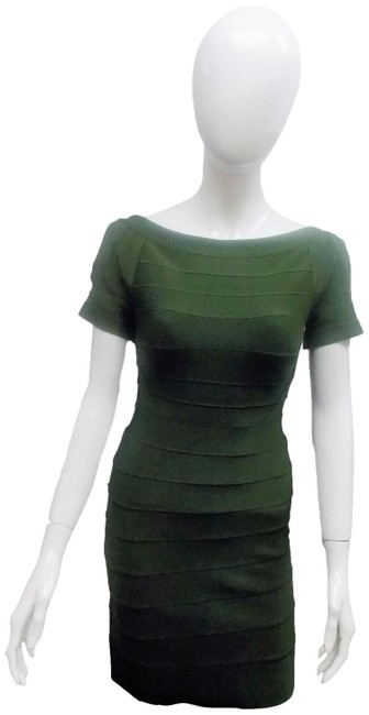 Item - Green Open Back Bandage Mid-length Night Out Dress Size 8 (M)